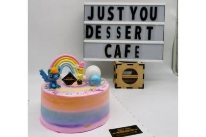 Rainbow Pony Design Cake